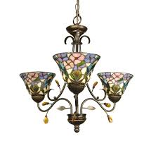 dale tiffany th90214 3 light crystal peony chandelier undefined