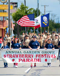 photo of the annual strawberry festival parade the annual garden grove