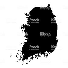韓国アイコン ブラック カラー イラスト フラット スタイル シンプルな