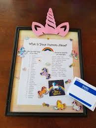 Unicorn Name Chart And Hello My Name Is Name Tags For Sale