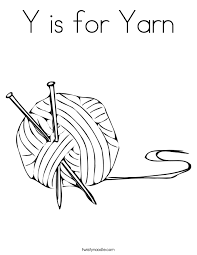 Small Picture Y is for Yarn Coloring Page Twisty Noodle