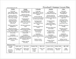 Graduation Program Template Pdf Example Weekly Preschool Plan Curriculum Template School With
