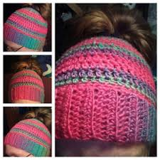 Ponytail Hat Crochet Pattern Delectable Free Crochet Ponytail Hat Pattern