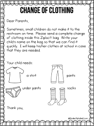 Freebielicious Free Parent Letter For Change Of Clothing