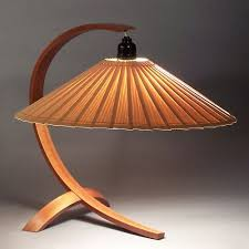 Wood Lamps - Arched Table Lamp by John Lang