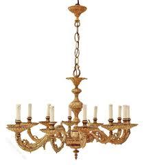 huge oval 12 lamp ormolu brass chandelier spanish