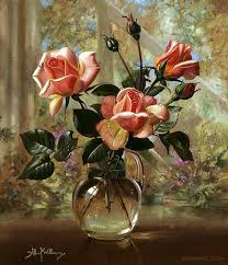 flowers still life painting by albert williams