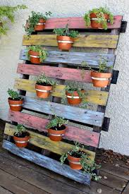 vertical pot pallet planter