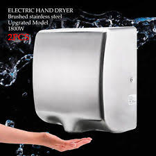 commercial bathroom hand dryers. 2pcs Hand Dryer 1800W Automatic Sensor Stainless Steel Commercial Bathroom Dryers