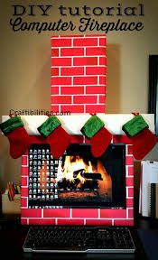 christmas decorating for the office. craftibilities holiday office idea fireplace computer cubicle fun diy christmas decorations decorating for the