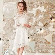 <b>Girls</b> white <b>lace flower girl dress</b> | River Island
