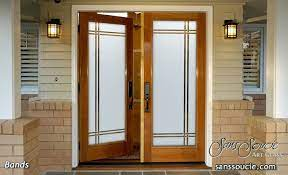 impressive frosted exterior glass doors