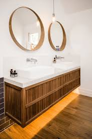 double vanity with two mirrors. modern round mirrors double vanity with two