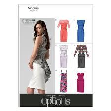 Vogue Patterns Dresses Adorable Vogue Patterns V48 Misses'Misses' Petite Dress Sewing Template