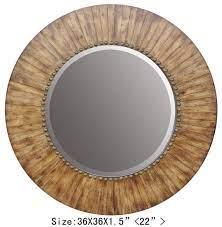 nature wood mirror home decor round