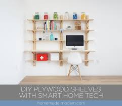 shelving for home office. This DIY Plywood Home Office Is Made Out Of ¾\u201d From Depot And Shelving For N
