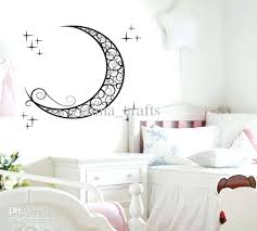 kid room decal removable moon wall stickers kids room wall stickers decals baby room wall decor