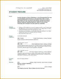 Teenager Resume Interesting Sample Resume For Teenager Sample Resume Student Summer Job Resume