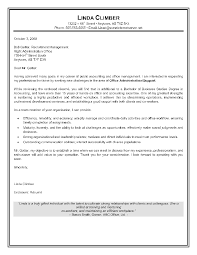 Sample Of Resume Cover Letter For Administrative Assistant Office