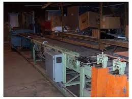corrugated metal roof and siding line stacker conveyor shear uncoiler