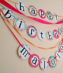 custom happy birthday banner custom happy birthday banner with name pink yellow orange