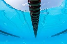 stock photo swimming pool race gala lane markers underwater abstract