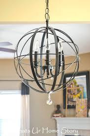 marais antique silver 6 light orb chandelier