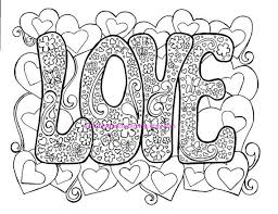 Small Picture Love Adult Coloring Page Hippie Valentines Day