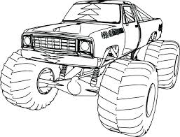 Monster Truck Coloring Pages To Print Out Free Printable Blaze