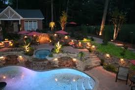 flower bed lighting. View In Gallery Highlighted Flower Beds And Pool Bed Lighting E