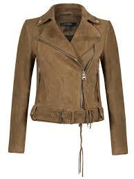 warren brown suede biker jacket