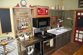 Rustic Kitchen Shelving Small Rustic Kitchen Makeover Repurposed Life