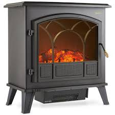 details about vonhaus 1850w electric stove heater log burning effect fireplace large