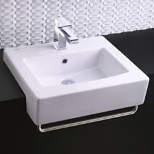 boxe semi countertop sink shown in white 020