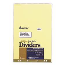 Post Binder Insertable Tab Dividers By Avery Ave11644