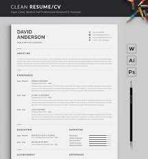 Modern Look Resume Resume Template Modern Professional Resume Template For Word
