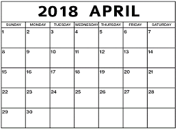 april 2018 word calendar april 2018 printable calendar word excel pdf april 2018