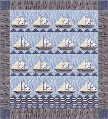 Quilt Inspiration: Free Pattern Day: Sailboats & Sail Away quilt, 38 x 42