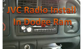 Installing a JVC radio Dodge Ram - YouTube