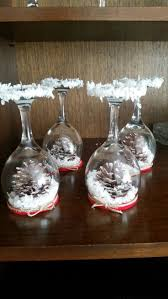 Recycling old wine glasses :) Christmas craft...DiY