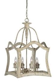 distressed metal framed aged aubrey chandelier antique style light great