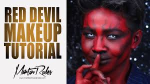 red devil makeup tutorial martin rules