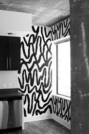 Black And White Mural Design Black White Abstract Mural Wall Design Black White