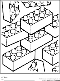 Print these pattern block cards to use with any colored math counters. Lego Block Coloring Pages Coloring Home