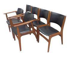 erik buch set of 6 danish teak dining chairs 4 2 carvers