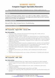 Pc Support Specialist Computer Support Specialist Resume Samples Qwikresume