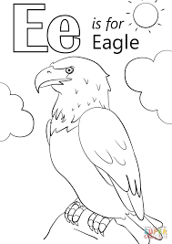Small Picture Letter E is for Eagle coloring page Free Printable Coloring Pages