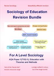 best sociology a level ideas things for  a level sociology of education revision bundle