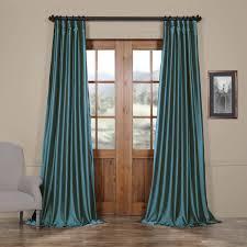 exclusive fabrics azul faux silk taffeta pole top curtain panel free today com 15781065