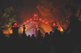 halloween lighting tips. Halloween Light Effect Idea For The Event : Cemetery Scene With Fog And Orange Lighting Tips E